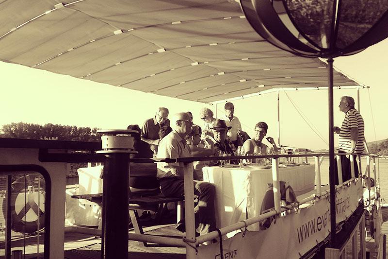 Feier auf dem Event Schiff Carnuntum