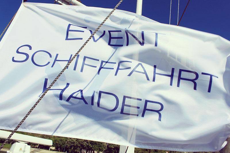 Flagge der Event Schifffahrt Haider